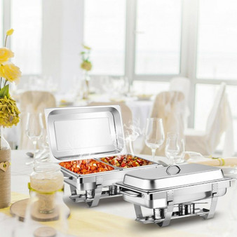 2 Packs Stainless Steel Full Size Chafing Dish (KC71038)