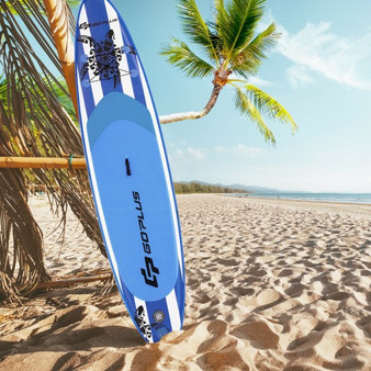 10.6' Inflatable Adjustable Paddle Board With Carry Bag (SP37538-M)
