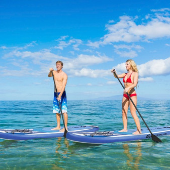 11 Feet Inflatable Adjustable Paddle Board With Carry Bag (SP37538-L)