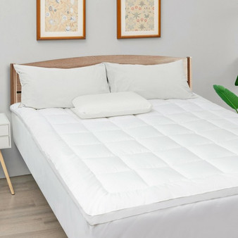 Mattress Pad Cover Padded Topper Soft Quilted Fitted Deep Pocket-King Size (HT1142K)