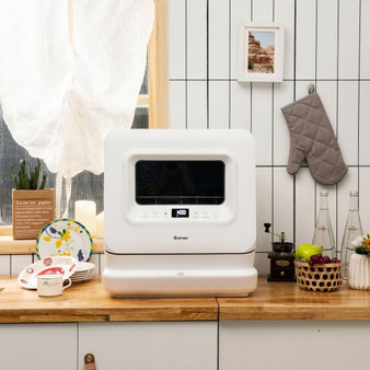 Portable Countertop Dishwasher Air Drying 5 Programs With 7.5L Water Tank (FP10015)