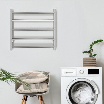 Electric Heated Towel Warmer Wall Mount Drying Rack 304 Stainless Steel (ES10008US)