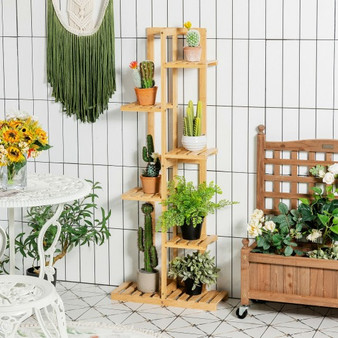 6 Tier 7 Potted Plant Stand Rack For Patio Yard (HZ10011)