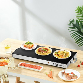 22 X 14 Inch Electric Warming Tray Hot Plate Dish Warmer With Adjustable Temperature (KC52906US)