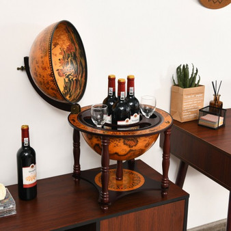 23 Inch Globe Wine Bar Stand For Dining Room And Living Room-Coffee (JV10055CF)