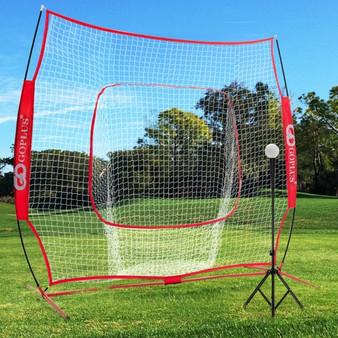 Portable Practice Net Kit With 3 Carrying Bags -Red (SP37425RE)
