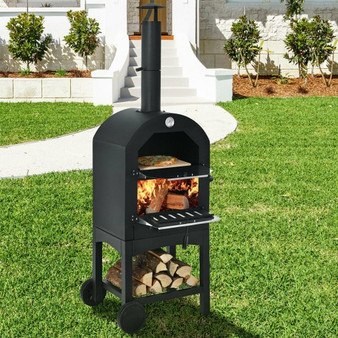 Portable Outdoor Pizza Oven With Pizza Stone And Waterproof Cover (OP70813)