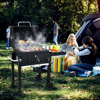 Outdoor Portable Charcoal Grill With Side Table (OP70812)