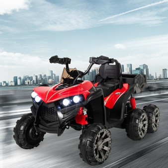 Kids Battery-Powered Ride-On Toy With 4Wd-Red (TQ10031RE)