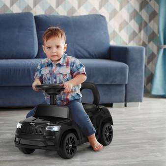 Kids Ride On Car With Steering Wheel-Black (TQ10025BK)