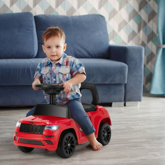 Kids Ride On Car With Steering Wheel-Red (TQ10025RE)