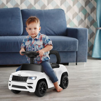 Kids Ride On Car With Steering Wheel-White (TQ10025WH)