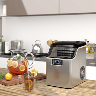 Electric Countertop Ice Maker With Ice Scoop And Basket (EP25064US-SL)