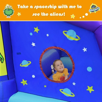 Indoor Outdoor Inflatable Alien Style Kids Bouncy Castle With 480W Air Blower (NP10032)
