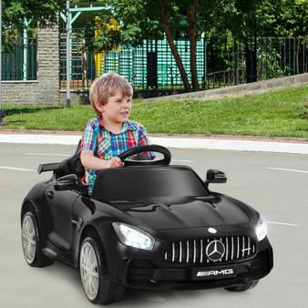 12V Licensed Mercedes Benz Kids Ride-On Car With Remote Control-Black (TY327942BK)