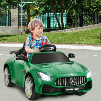 12V Licensed Mercedes Benz Kids Ride-On Car With Remote Control-Green (TY327942GN)