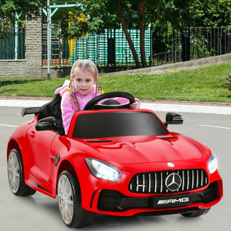 12V Licensed Mercedes Benz Kids Ride-On Car With Remote Control-Red (TY327942RE)