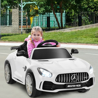 12V Licensed Mercedes Benz Kids Ride-On Car With Remote Control-White (TY327942WH)