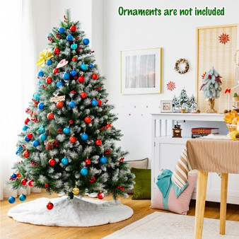 Artificial Pvc Christmas Tree With Branch Tips And Metal Stand-6 Ft (CM23664)
