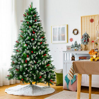 Artificial Pvc Christmas Tree With Branch Tips And Metal Stand-7' (CM23719)