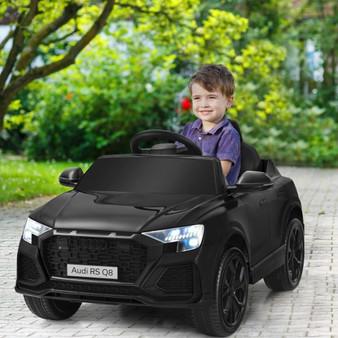 12V Licensed Audi Q8 Kids Cars To Drive With Remote Control-Black (TQ10021US-BK)