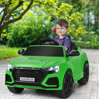 12 V Licensed Audi Q8 Kids Cars To Drive With Remote Control-Green (TQ10021US-GN)