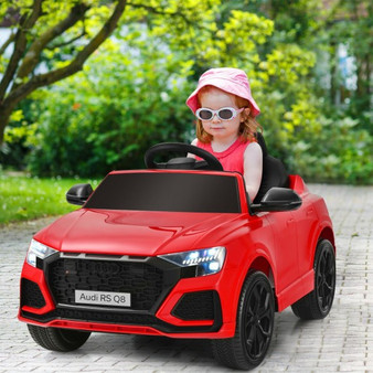 12 V Licensed Audi Q8 Kids Cars To Drive With Remote Control-Red (TQ10021US-RE)