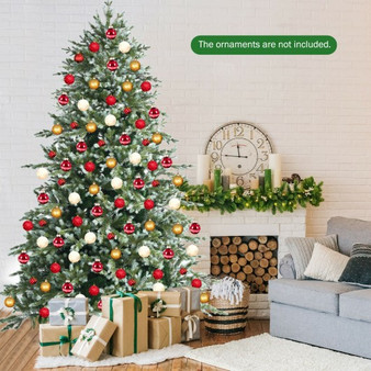 8Ft Hinged Artificial Christmas Spruce Tree With Mixed Pe And Pvc Tips (CM23594)