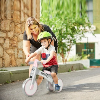 Indoor Outdoor Kids Riding Balance Bike With Silent Wheels-Pink (TY328025PI)