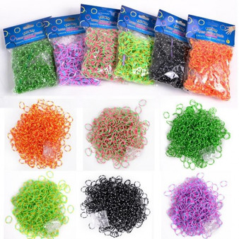 6X600=3600 Colourful Rainbow Rubber Loom Bands Bracelet Kit Set Diy With S-Clips (HB82066)