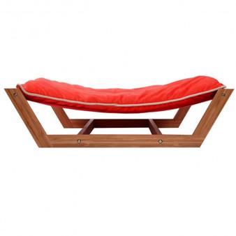 Rectangle Pet Hammock Bed Bamboo Dog Sleeping Pad Cushion\-Red (PS6103RE)