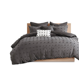 100% Cotton 7Pcs Jaquard Duvet Cover Set - King/Cal King UH12-2260