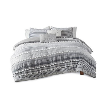 100% Cotton 5 Piece Duvet Cover Set - Full/Queen UH12-2300