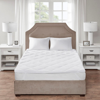 100% Cotton Cooling Warmth Reversible Mattess Pad - King BASI16-0538