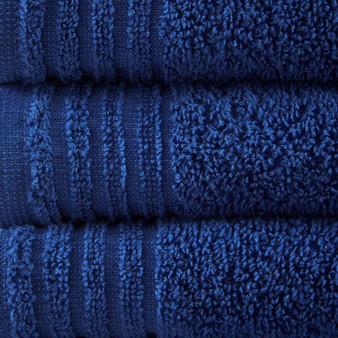 100% Cotton 12Pcs Bath Towel Set - Navy 5DS73-0202