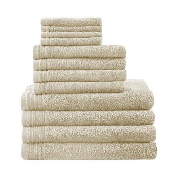 100% Cotton 12Pcs Bath Towel Set - Taupe 5DS73-0217