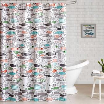 100% Cotton Duck Shower Curtain - Multi HPS70-0035