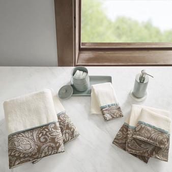 100% Cotton 6 Piece Jacquard Towel Set - Blue MP73-5310