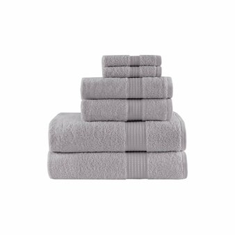 100% Cotton 6 Piece Towel Set - Grey MP73-5137