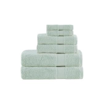 100% Cotton 6 Piece Towel Set - Seafoam MP73-5141