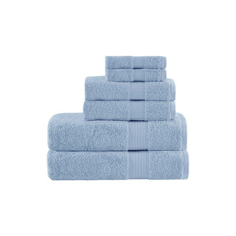 100% Cotton 6 Piece Towel Set - Blue MP73-6181