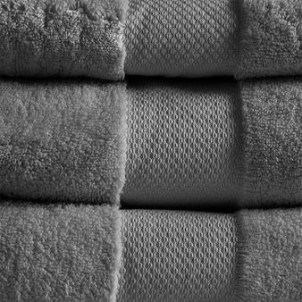 100% Cotton 6 Piece Bath Towel Set - Charcoal MPS73-454
