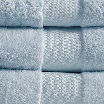 100% Cotton 6 Piece Bath Towel Set - Light Blue MPS73-455