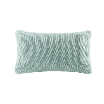 100% Acrylic Knitted Pillow Cover - Aqua II30-742