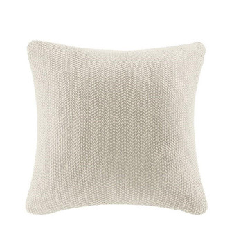 100% Acrylic Knitted Euro Pillow Cover - Ivory II30-871