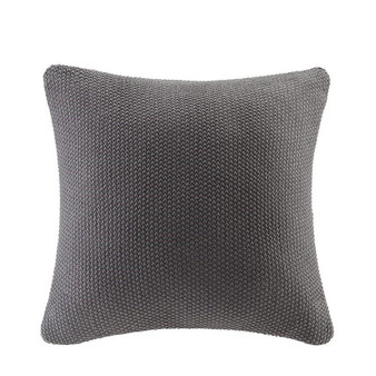 100% Acrylic Knitted Euro Pillow Cover - Charcoal II30-872