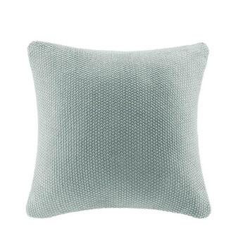 100% Acrylic Knitted Euro Pillow Cover - Aqua II30-873