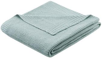 100% Acrylic Knitted Throw - Aqua II50-736