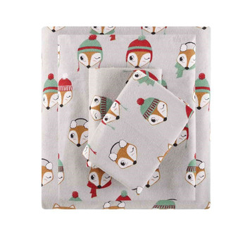 100% Cotton Flannel Pigment Printed Sheet Set - Queen ID20-1547