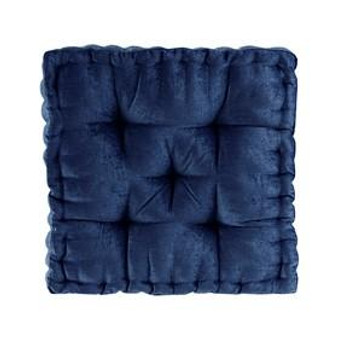 100% Polyester Chenille Square Floor Pillow Cushion - Navy ID31-1832